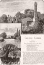 LONDON. Prince Imperial; Camden House, Chislehurst; Molesey Weir 1888 print